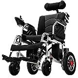 ACEDA Elektrischer Rollstuhl Mit Kopfstütze, Intelligente Automatische Elektrorollstuhl,Faltbar Tragbare, Frei-Reiten, Rollstuhl(Kann 120Kg Unterstützen)