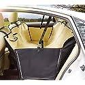 Pet Auto Sitzbezug-Oxford Stoff Wasserdichte Auto Rücksitz Protector Pet Mat, Hund Sitzbezug Geeignet Für Die Meisten Autos,Beige