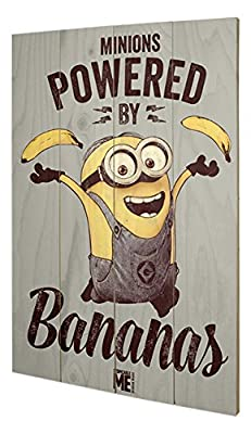 Pyramid International sw11474p Despicable Me (Powered by Bananas) murale en bois en bois Multicolore 40 x 2,5 x 59 cm