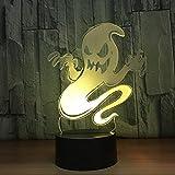 Lámpara LED 3D / Cambio de 7 colores/Interruptor táctil USB/Lámpara de ambiente interior/Amigos Juguetes y regalos para niños Arte y manualidades idealesRegalo de Halloween/Fantasma