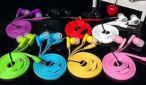 3,5 MU Flat Cable casque intra-auriculaires Casque Pour Samsung iPhone 5 6 6s basse stéréo MP3 MP4 B marque fone de Ouvido, Noir