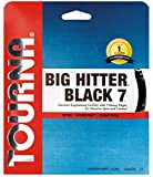 Tourna Big Hitter BLACK7 Ultimate Spin Poliestere Corda da Tennis, Unisex, Tourna Big Hitter Black7 17g, Black, 17g Set