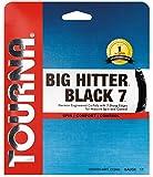 Tourna Big Hitter BLACK7Ultimate Spin Poliestere Corda da Tennis, Unisex, Tourna Big Hitter Black7 17g, Black, 17g Set