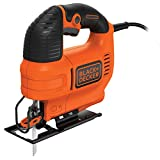 BLACK+DECKER KS701E-QS Seghetto Alternativo Compatto in Cartone + 1 Lama, 520 W, Nero, 520W
