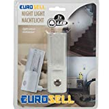 Eurosell Nachtlicht Nachtlichter Nacht Schlummer Leuchte + Zusatzfunktion (1 Stück)
