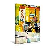 Premium Textil-Leinwand 30 cm x 45 cm hoch, Zwei Männer von den Stadtwerken Mainz | Wandbild, Bild auf Keilrahmen, Fertigbild auf echter Leinwand, ... von Margarita Siebke (CALVENDO Menschen)