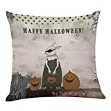 SEWORLD Halloween Kissen Box Leinen Sofa Lustige Ghost Pad Kissen Dekoration B
