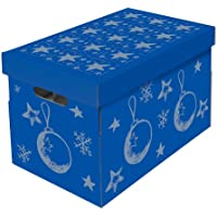 Nips Christmas Storage Box for Baubles/Decorations with Variable Inner Dividers on 3 Levels - Multicoloured