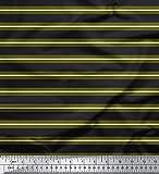 Soimoi Moss Georgette 44 Zoll Breiten Stoff-Streifen-Druck