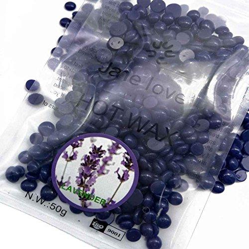 Babysbreath 50g Körper Enthaarung Wachs Hartwachs Bohnen für Frauen Männer Haarentfernung Wachs Duft Lavendelgeschmack