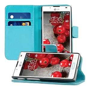 kwmobile Wallet Case Hülle für LG Optimus L7 II - Cover Flip Tasche mit Kartenfach und Ständerfunktion in Blau