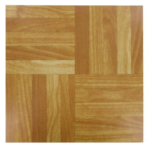 4x (WOOD) Self Adhesive Vinyl Peel And Stick Tiles Flooring Kitchen Bathroom 12 x 12 Shopmonk by zizzi (Peel-stick Vinyl)