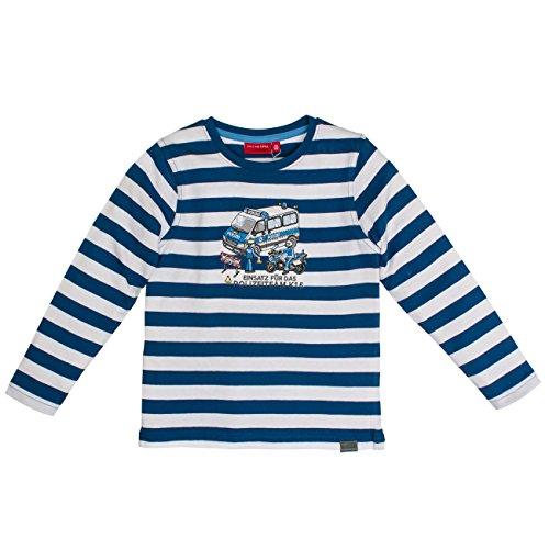 Salt & Pepper Longsleeve Police Stripes, T-Shirt Manches Longues Garçon Salt & Pepper
