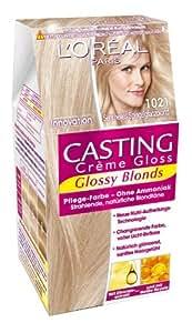 L'Oréal Paris Casting Creme Gloss Pflege-Haarfarbe, 1021 Sehr Helles Spiegelglanzblond