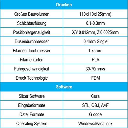 DEMU 3D Drucker Mini Printer Easier Desktop PLA Filament DIY Bildschrim USB - 5