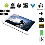 "G-Anica Tablette tactile 9""- Android 4.4.2, Dual Core, (1024x 600HD, Double caméra, Bluetooth, Wi-Fi, 8 Go, 512Mo RAM, jeux 3D pris en charge)-Blanc"