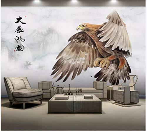 Apoart 3D Wandtapete Ausbreitende Flügel Des Adlers Dazhan Hongtu Gestalten Wanddekorationsmalerei Landschaftlich200Cmx140Cm (Auf Den Flügeln Des Adlers Buch)