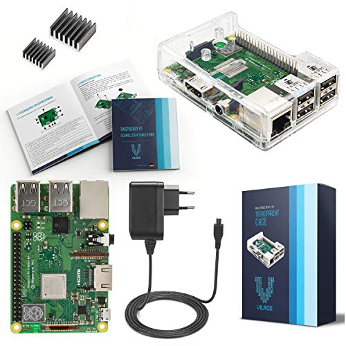 V-Kits Raspberry Pi 3 Model B+ (B Plus) Basic Starter Kit---Enthalt: Raspberry Pi 3 Model B+ (B Plus) Gigabit Ethernet-802.11 B/g/n Bluetooth