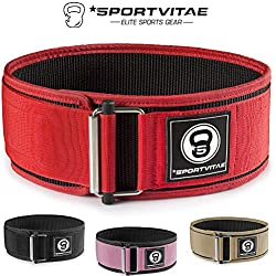 Sportvitae - Weight Lifting Belt for Crossfit Bodybuilding Powerlifting - Lumbar Protection Light Resistant Adjustable - Man and Woman