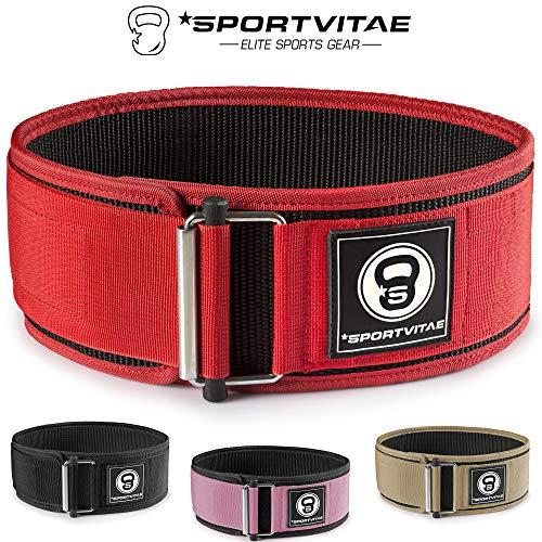 Sportvitae® - Cintura Powerlifting per Sollevamento Pesi, Allenamenti, Culturismo, Crossfit, Fitness, Palestra - Uomini e Donne
