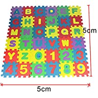 Worthititit Puzzles&Magic Cubes &36Pcs Children Alphabet Numbers Puzzles Crawling Foam Floor Mat Education Toy Jigsaw Accessories for Kids Adults Puzzle Ttoy Educational Toy