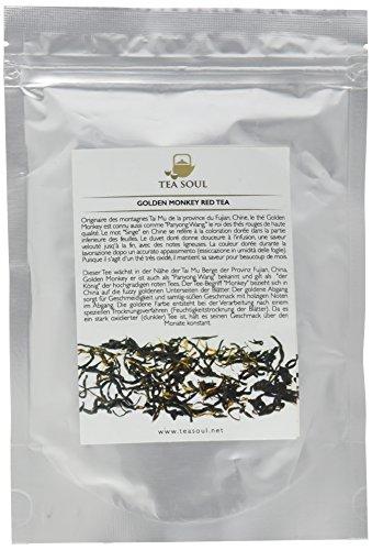 Tea Soul  Golden Monkey Premium Lose Blatt schwarzer / roter Tee aus der Provinz Yunnan, 1er Pack (1 x 50 g) (Roter Tee Lose-blatt)