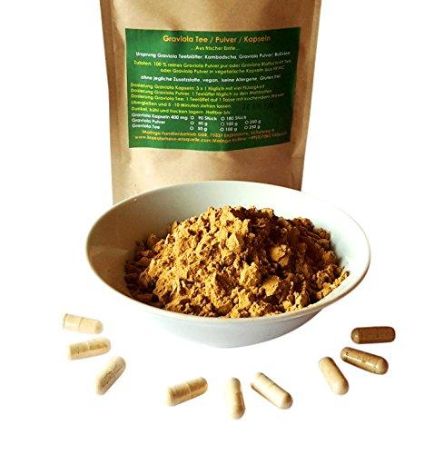 90 Graviola´ Annona Muricata Guanabana Fruchtextrakt in veganen Kapseln 400 mg Premium - Qualität Made in Germany