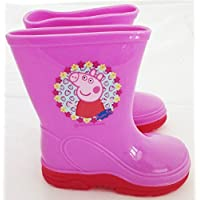 Peppa Pig Girls Infant Pink Wellies Wellington Boots Waterproof Rain Boots