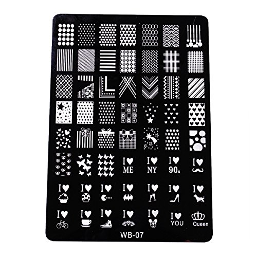 XLORDX Nail Art Plates Stamping Nagel Bildstempel Schablone Metallplatten Nagel Tattoo Manicure Halloween Weihnachten XMAS DIY - Einfache Halloween-diys