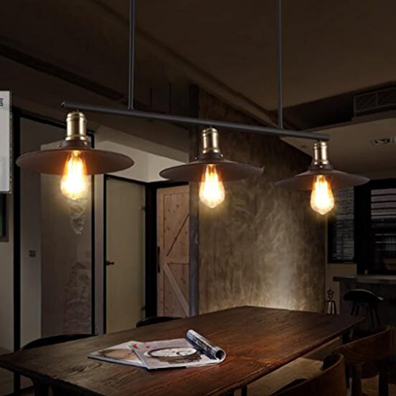 Meters Retro Industriel Vent Lustre Restaurant Lampe Billard Table Bar Creative 3 lustres