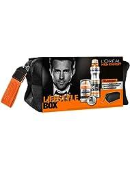 L'Oréal Men Expert Set inkl. Hydra Energy 24h Anti-Müdigkeit, Deo Invincible Spray plus Carbon Kulturbeutel, 1er Pack