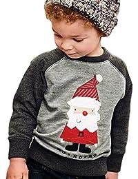 Covermason Winter Kinder Baby Jungen Sweatshirt Tops Weihnachtsmann Pullover Outwear Kleidung