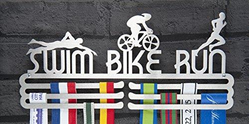 Medaille Aufhänger Display Swim Bike Run Edelstahl Triple Kontingent - Race-medaille Aufhänger