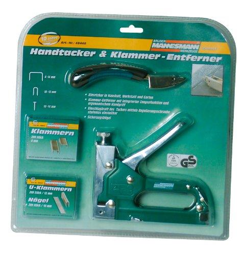 Mannesmann 48440 Set agrafeuse manuelle Avec agrafes, clous et...
