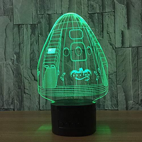 weiaikeke USB Geschenk Stereo Led 3D Licht Neuheit Kreative Halloween 3D Nachtlicht Luminaria Led 3D Leuchten Tischlampen (Für Halloween Kreative Sachen)