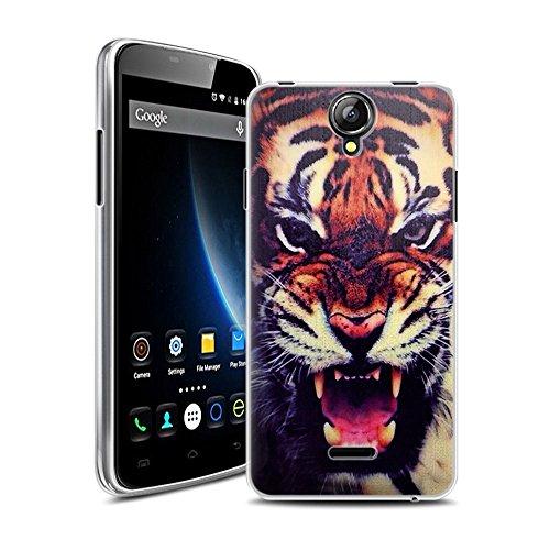 Easbuy Neu Version TPU Transparent Silikon Tasche für Doogee X6 X6 PRO Smartphone Etui Cover Hülle Case Handytasche Handyhülle Schutzhülle