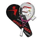 Unbekannt Junior Training Tennisschläger Aluminiumlegierung Schläger Für Chidlren's Anfänger Mit Tennistasche,Pink