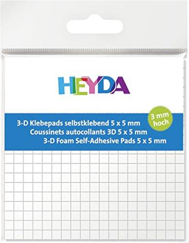 Preisvergleich Produktbild HEYDA 3-D Klebepads, 5 x 5 mm, wei , 3 mm hoch VE = 1
