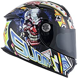Suomy Casque Moto Intégral SR Sport Plain, Multicolore (Gamble Top Player), M