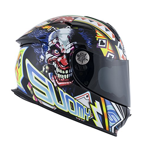 Suomy Motorradhelm SR Sport Shape, Mehrfarbig (Gamble Top Player), M