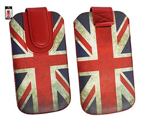 Emartbuy® Union Jack Print Premium PU Leather Tasche Hülle Schutzhülle Case Cover (Größe 3XL) Mit Ausziehhilfe Geeignet für Jiayu F1