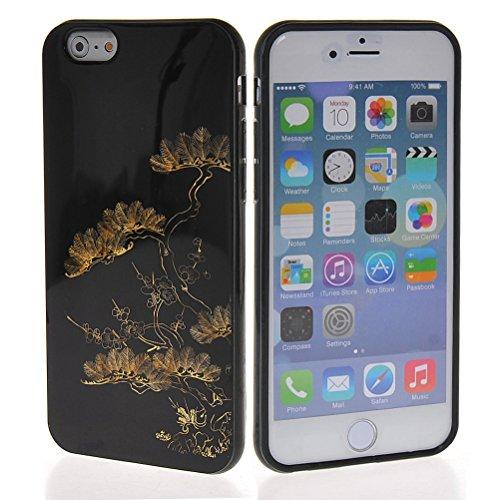 MOONCASE Gel TPU Silicone Housse Coque Etui Case Cover pour Apple iPhone 6 ( 4.7 inch ) Noir 05