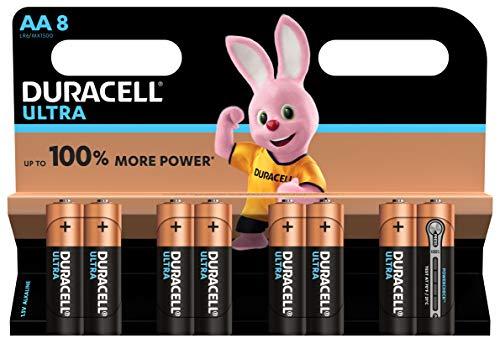 Duracell Ultra Power Alkaline AA Batterien, 8er Pack (Abbildung kann abweichen)