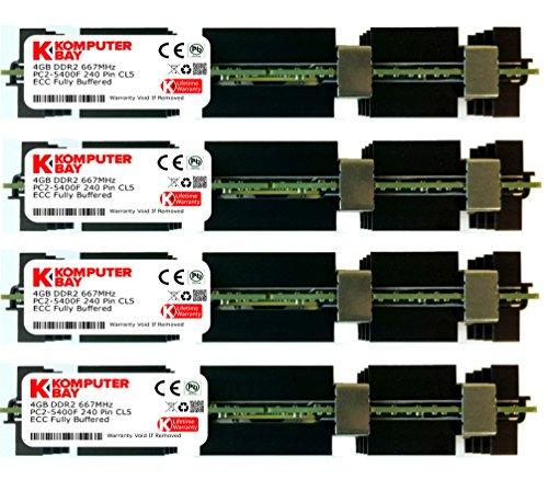 Komputerbay Arbeitsspeicher RAM FB-DIMM mit Hitzeverteilern (DDR2, PC2-5300F, 667MHz, CL5ECC, 240-polig) 16GB (4x4GB) 667Mhz MAC HS -