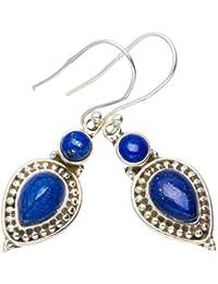 9c1890321674 Plata de ley 925 Lapis Lazuli Único hecho a mano Aretes 4
