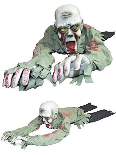 Kriechender Zombie Animiert Halloween Deko 100 cm - Horror Grusel Leiche Dekoration (Halloween Animierte Deko)