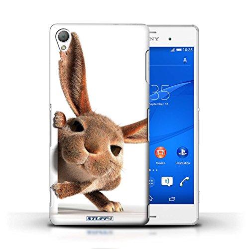 Kobalt® Imprimé Etui / Coque pour Sony Xperia Z3 / Museau de giraffe conception / Série Animaux comiques Petit lapin curieux