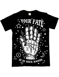 Your Fate Gothic T Shirt - Occult palmistry Clothing by Luna Cult