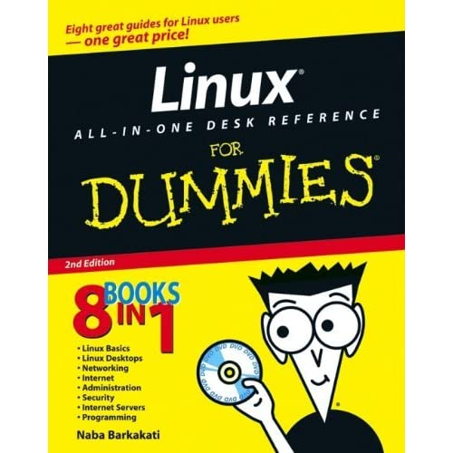 Linux All-in-One Desk Reference For Dummies by Naba Barkakati (12-May-2006) Paperback
