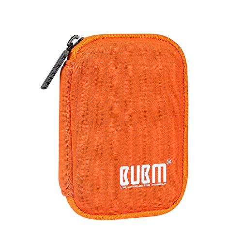 BUBM Soft Mini Tasche Aufwahrungstasche mit 6 Kapazität für USB Drive Shuttle (Orange) -